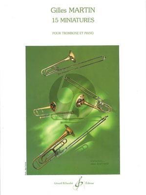 Martin 15 Minatures Trombone et Piano (Facile Gr.1 - 2)