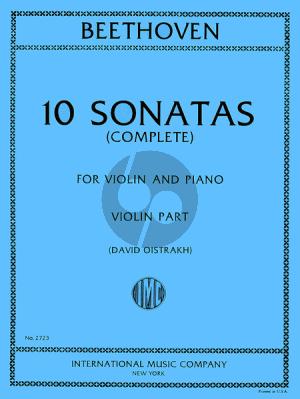 Beethoven 10 Sonatas (Violin and Piano) (Edited by David Oistrakh)