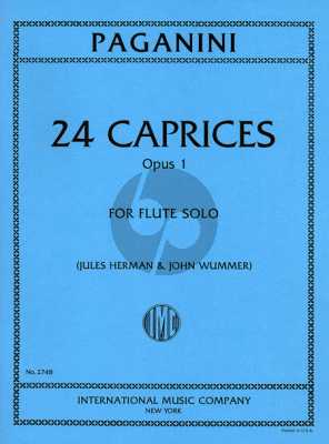 Paganini 24 Caprices Op.1 for Flute (edited by Jules Herman and John Wummer)