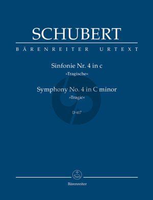Schubert Symphony No.4 C Minor D 417 'Tragic' Studyscore Barenreiter Urtext