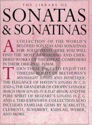 The Library of Sonatas & Sonatinas Piano