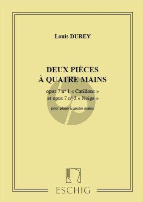 Durey 2 Pièces pour Piano a 4 mains