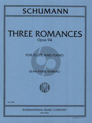 Schumann 3 Romances Op.94 Flute and Piano (Jean-Pierre Rampal)