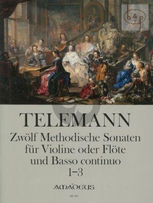 Telemann 12 Methodische Sonaten Vol.1 No.1-3 Flote[Violine] und Bc (nach dem Erstdruck von Winfired Michel und Christine Gevert)