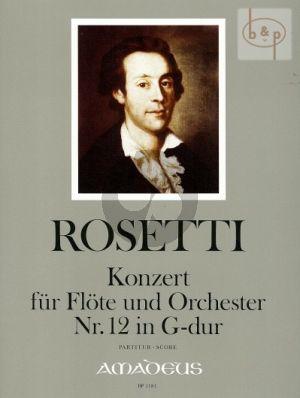 Concerto No.12 G-dur (Flote-Orch.) (Partitur)