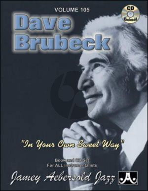 Jazz Improvisation Vol.105 David Brubeck (In Your Own Sweet Way) (Bk-Cd)