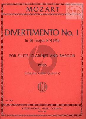 Divertimento No.1 B-flat major (KV.anh.229) (KV 439a)