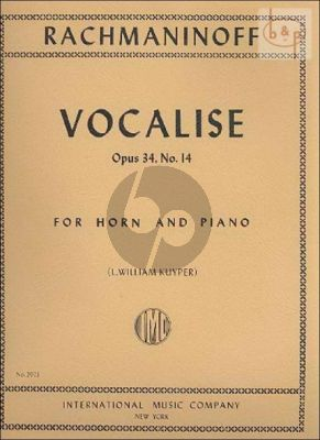Vocalise Op.34 No.14 Horn - Piano