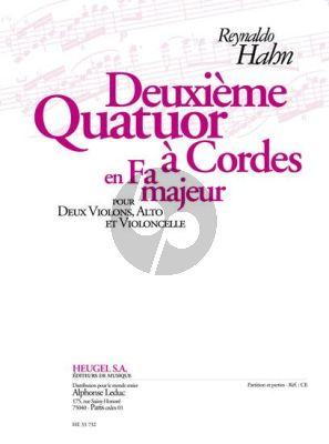 Hahn Quatuor No.2 F-majeur 2 Violons-Alto et Violoncelle (Partition/Parties)