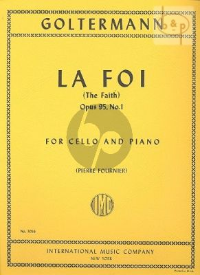 La Foi Op.95 No.1 Violoncello-Piano