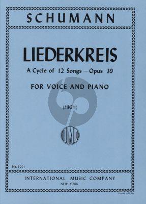 Schumann Liederkreis Op. 39 High Voice (Sergius Kagen)