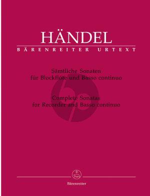 Handel Sämtliche Sonaten für Blockflöte und Basso continuo (ed. Terence Best)
