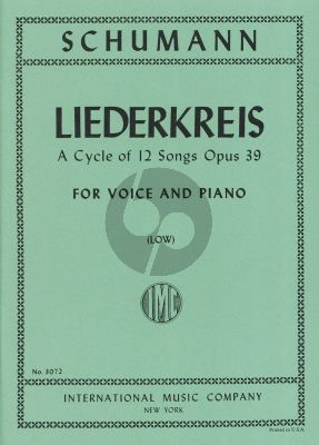 Schumann Liederkreis Op. 39 Low Voice (Sergius Kagen)