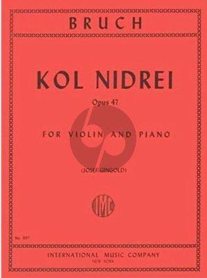 Bruch Kol Nidrei Op.47 Violin-Piano (Josef Gingold)