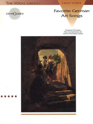 Favorite German Art Songs high voice book-CD