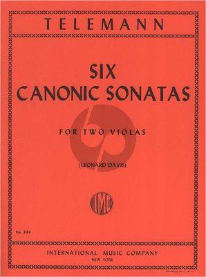 Telemann 6 Canonic Sonatas 2 Violas (transcr. Leonard Davis)
