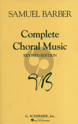 Barber Complete Choral Music SATB