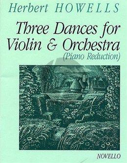 Howells 3 Dances violin-piano