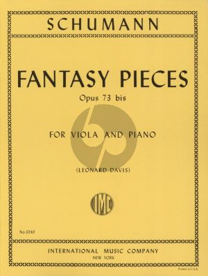 Schumann Fantasy Pieces Op.73 /bis Viola and Piano (Leonard Davis)