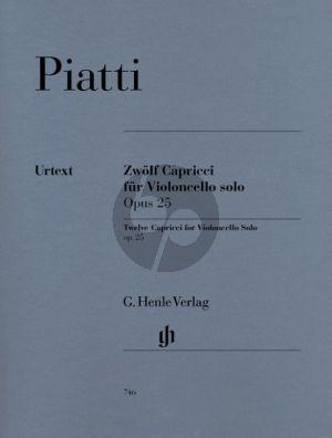 Piatti 12 Capricci Op.25 Violoncello (Christian Bellisario) (Henle-Urtext)
