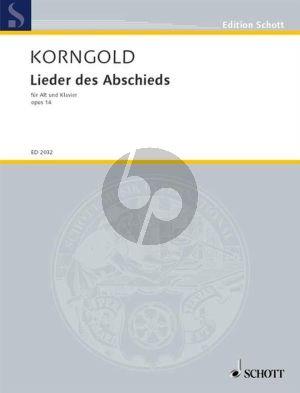 Korngold Lieder des Abschieds Op. 14 Altstimme und Klavier (deutsch)