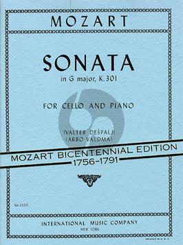 Mozart Sonata G-major KV 301 (orig. Violin) Violoncello-Piano (transcr. by Valter Despalj)
