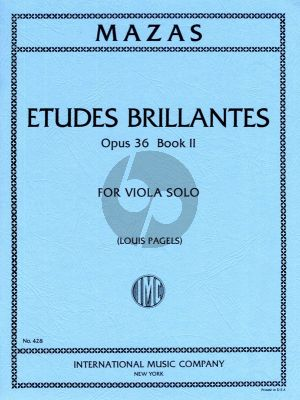 Mazas Etudes Brillantes Op.36 Vol.2 Viola (Edited by Louis Pagels)