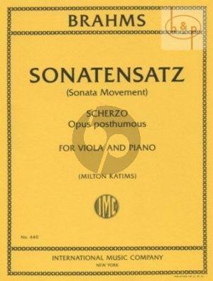 Sonatensatz (Scherzo)