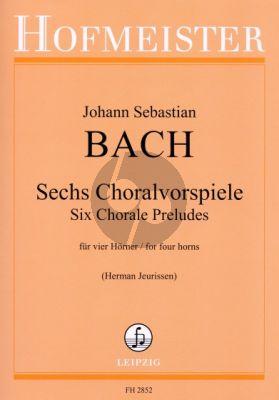 Bach 6 Choralvorspiele (4 Horns) (Score/Parts) (Jeurissen)