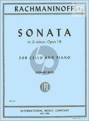 Sonata g-minor Op.19 Violoncello-Piano