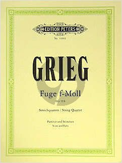 Grieg Fuge f-moll EG 114 2 Vi.-Va.-Vc. (Part./Stimmen) (Benestad) (1861)