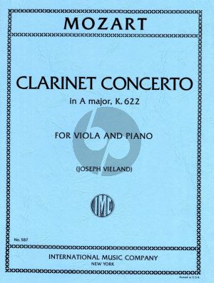 Mozart Concerto A-major KV 622 Viola and Piano (orig. Clarinet) (arr. by Joseph Vieland)