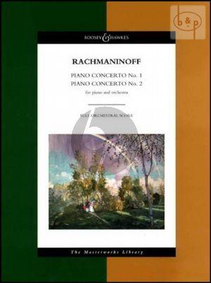 Rachmaninoff Concertos no.1-2 (Op.1 and Op.18) Piano-Orchestra Full Score (Boosey Masterworks Libr.)