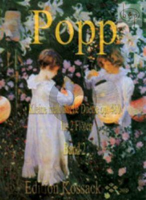 Popp Kleine Melodische Duette Op.480 Vol.2 2 Flutes (Grade 2-3) (Widdermann)