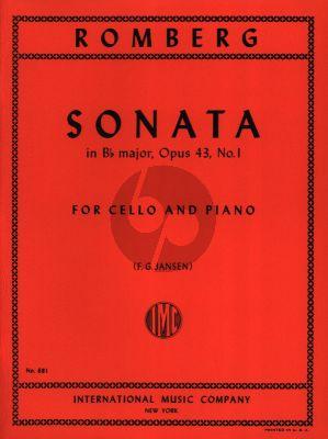 Romberg Sonata Op.43 No.1 B-flat major Cello and Piano (F.G. Jansen)
