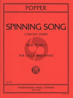 Popper Spinning Song (Concert Study) Op.55 No.1 Cello-Piano