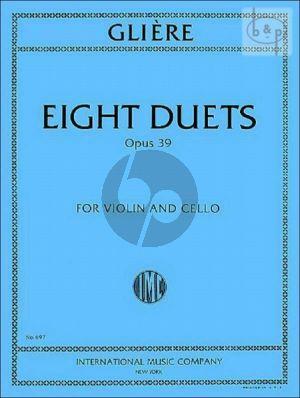 Gliere 8 Duets Op.39 Violin-Violoncello