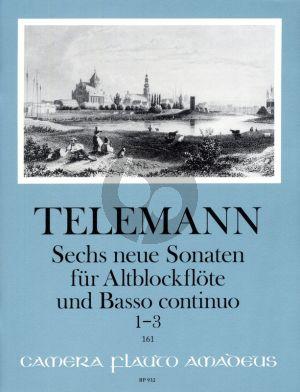 Telemann 6 neue Sonaten Vol.1 No. 1-3 fur Altblockflote und Bc (Continuo Aussetzung Martin Nitz)