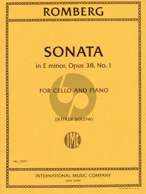 Romberg Sonata E-minor Op.38 No.1 Violoncello-Piano (Solow)