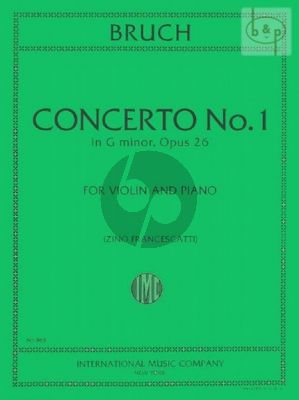 Concerto G-minor Op.26 Violin and Piano