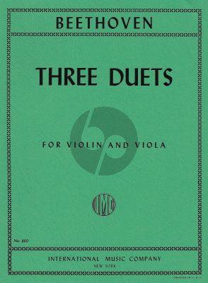 Beethoven 3 Duets WoO27 Violin and Viola (Hermann-Pagels)