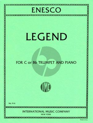 Enescu Legend for Trumpet in C or Bb and Piano