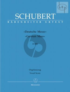 Deutsche Messe D.872 (SATB-Winds-Perc.-Organ and Double Bass opt.)