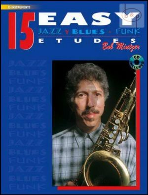 Mintzer 15 Easy Jazz Blues & Funk Etudes for Alto Saxophone (Bk-Cd)