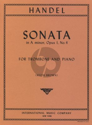 HandelSonata a-minor Op. 1 No. 4 for Trombone and Piano (arr. Keith Brown)