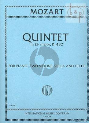 Quintet E-flat major KV 452 (2 Vi.-Va.-Vc.-Pi.)