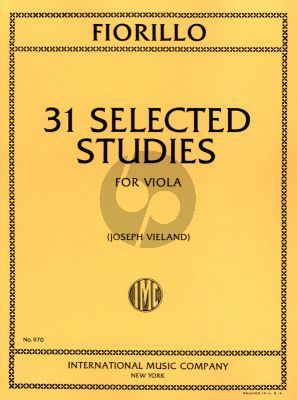 Fiorillo 31 Selected Studies for Viola (Joseph Vieland)