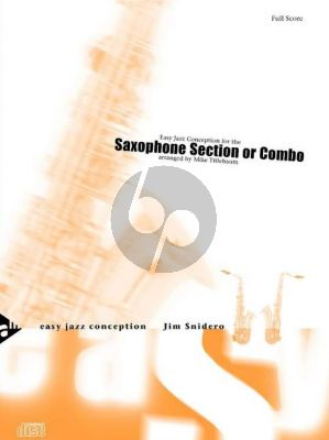 Snidero Easy Jazz Conception for the Saxophone Section (Combo) 5 Sax. (AATTBar) (Bk-Cd) (Score/Parts) (arr. Mike Titlebaum)