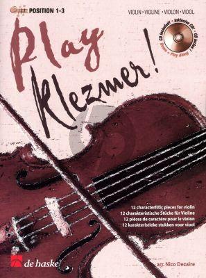 Sijtsma Play Klezmer! for Violin (Position 1 - 3) (Bk-Cd) (arr. Nico Dezaire)