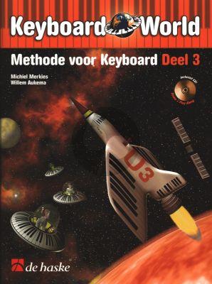 Merkies Keyboard World Vol.3 (Methode voor Keyboard) (Bk-Cd)